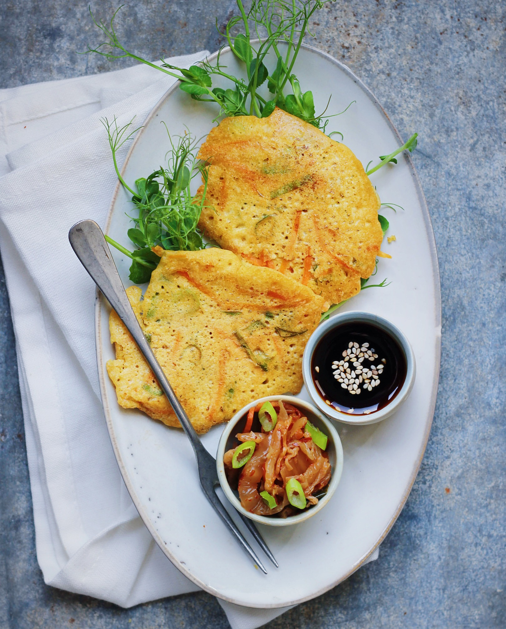 korean chickpea pancakes