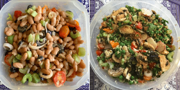 Two salad images
